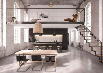VR Loft Wohnzimmer